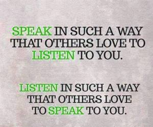listen and speak